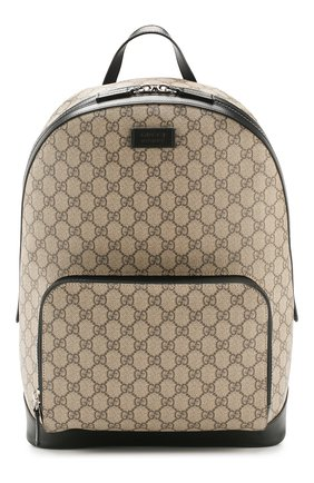 Мужской текстильный рюкзак gg supreme GUCCI бежевого цвета, арт. 406370/KLQAX | Фото 1