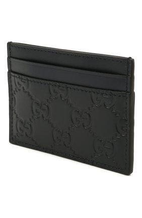 Мужской кожаный футляр для кредитных карт с тиснением signature  GUCCI синего цвета, арт. 473927/CWC1N | Фото 2