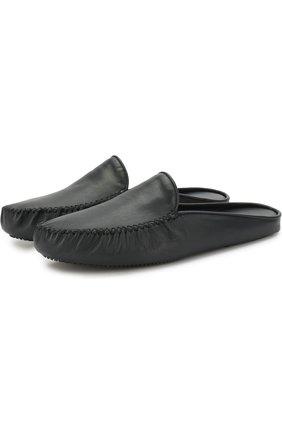 Домашние кожаные туфли Homers At Home темно-синяя | Фото №1