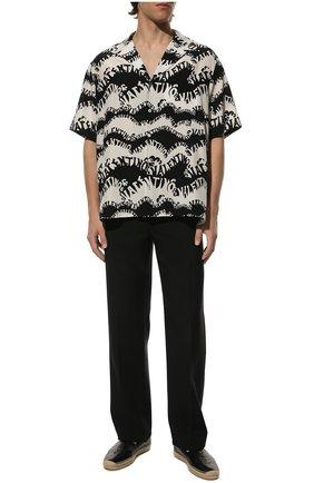Мужские кожаные эспадрильи с логотипом бренда SAINT LAURENT черного цвета, арт. 509616/0AS00 | Фото 2