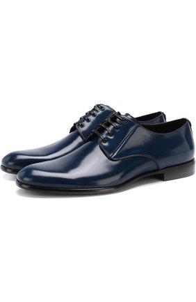 Мужской кожаные дерби napoli DOLCE & GABBANA синего цвета, арт. 0111/A10306/AC460 | Фото 1