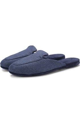 Мужского домашние текстильные туфли LORO PIANA синего цвета, арт. FAI1677 | Фото 1