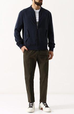 Мужские кожаные кеды на шнуровке ZEGNA COUTURE белого цвета, арт. A2975X-SWI | Фото 2