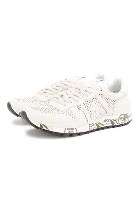 Мужские замшевые кроссовки eric PREMIATA белого цвета, арт. ERIC/VAR2124 | Фото 1