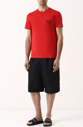 Мужские резиновые шлепанцы с логотипом бренда GIVENCHY черного цвета, арт. BM08070894 | Фото 2