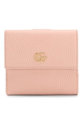 Женские кожаное портмоне GUCCI розового цвета, арт. 456122/CA00G | Фото 1