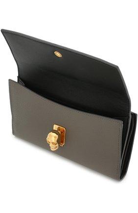 Кожаный кошелек с застежкой в виде черепа | Фото №3