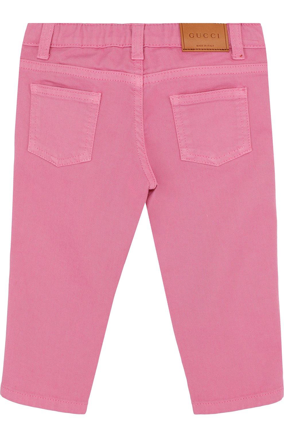 Детские зауженные джинсы GUCCI фуксия цвета, арт. 499967/XR976 | Фото 2