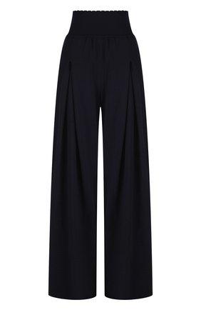 Широкие шерстяные брюки с защипами и завышенной талией | Фото №1