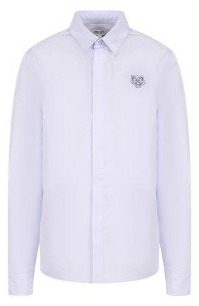Хлопковая блуза прямого кроя с логотипом бренда | Фото №1