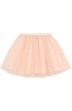 Многослойная юбка-миди с эластичным поясом | Фото №1