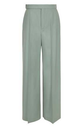 Расклешенные шерстяные брюки со стрелками