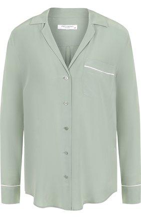 Женская шелковая блуза свободного кроя Equipment, цвет оливковый, арт. Q23-E313P в ЦУМ | Фото №1