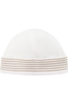 Хлопковая шапка с отворотом | Фото №1