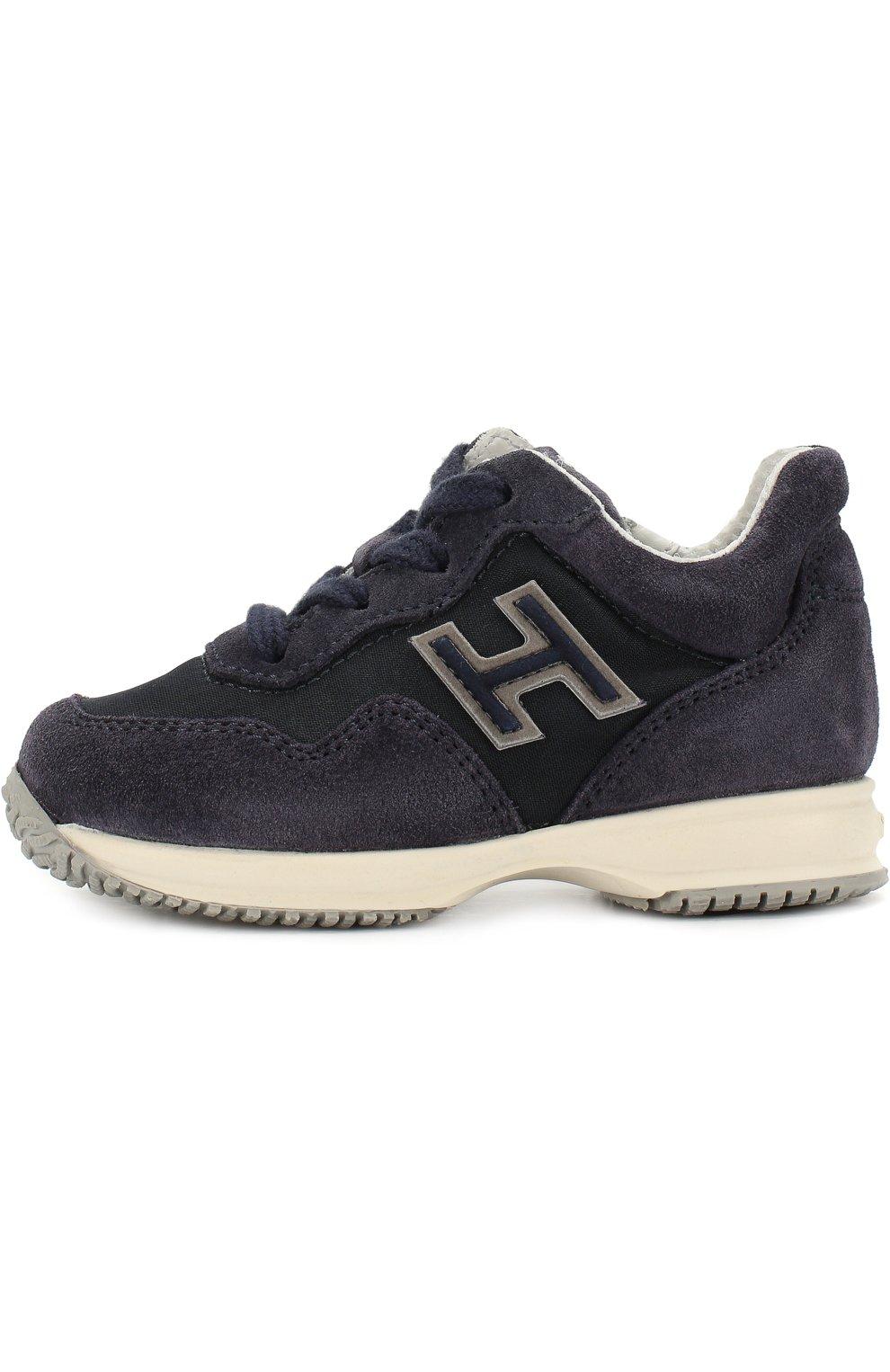 Замшевые кроссовки на шнуровке с молнией | Фото №2