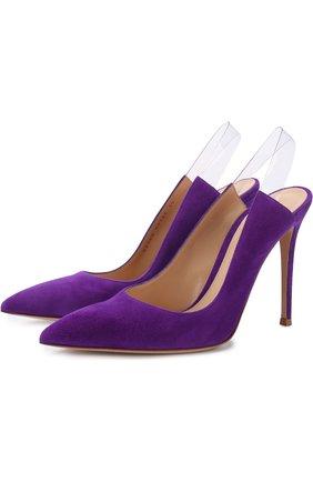 Замшевые туфли Eva на шпильке | Фото №1