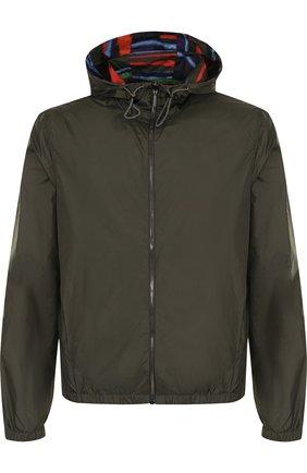 Двусторонняя куртка на молнии с капюшоном | Фото №1