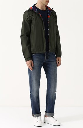 Двусторонняя куртка на молнии с капюшоном | Фото №2
