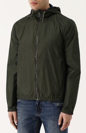 Двусторонняя куртка на молнии с капюшоном | Фото №3
