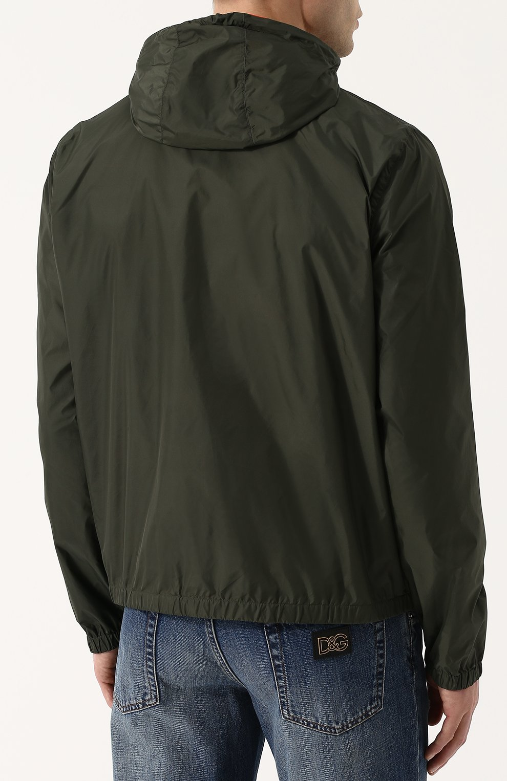 Двусторонняя куртка на молнии с капюшоном | Фото №4