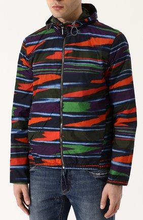 Двусторонняя куртка на молнии с капюшоном | Фото №6
