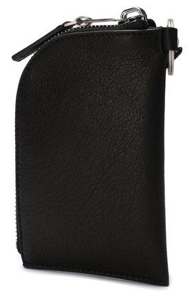 Кожаное портмоне на молнии Rick Owens черного цвета | Фото №1