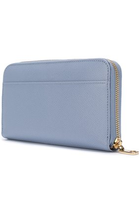 Женские кожаный кошелек на молнии DOLCE & GABBANA голубого цвета, арт. BI0473/AH338 | Фото 2