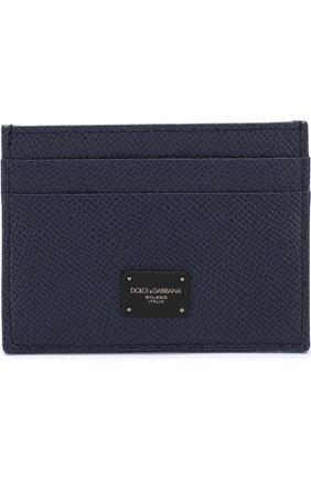Мужской кожаный футляр для кредитных карт  DOLCE & GABBANA синего цвета, арт. BP0330/AI359   Фото 1