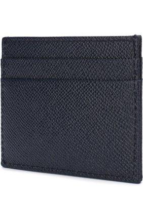Мужской кожаный футляр для кредитных карт  DOLCE & GABBANA синего цвета, арт. BP0330/AI359   Фото 2