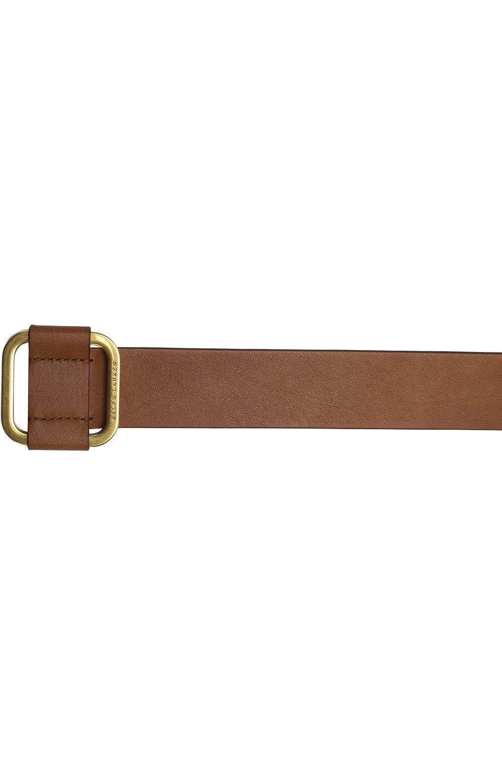 Мужской кожаный ремень с металлической пряжкой RALPH LAUREN коричневого цвета, арт. 404692769   Фото 3