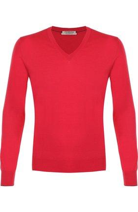 Пуловер тонкой вязки из смеси хлопка и кашемира | Фото №1