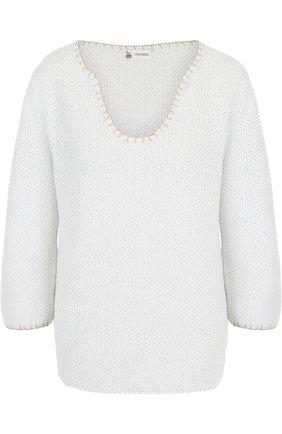 Хлопковый пуловер фактурной вязки | Фото №1