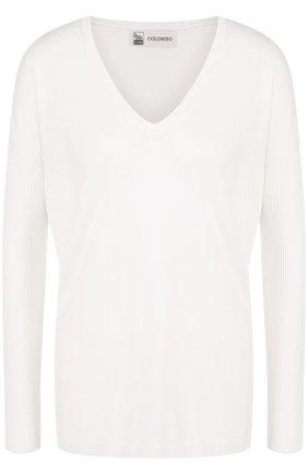 Пуловер свободного кроя из смеси кашемира и шелка | Фото №1