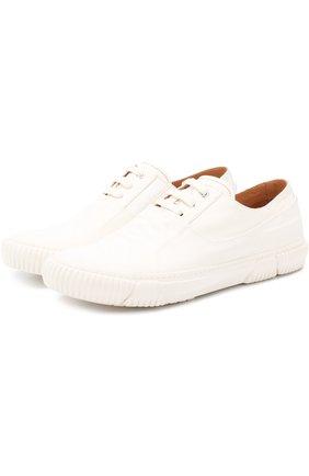 Комбинированные кеды на шнуровке Both белые | Фото №1