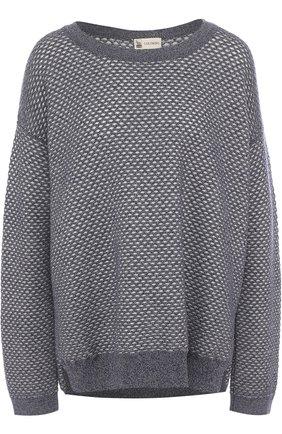 Пуловер из смеси кашемира и хлопка с шелком | Фото №1
