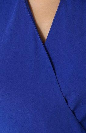 Женский однотонный приталенный комбинезон из вискозы RALPH LAUREN синего цвета, арт. 290707925   Фото 5