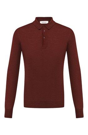 Мужское поло из шерсти и шелка GRAN SASSO бордового цвета, арт. 57132/13190 | Фото 1