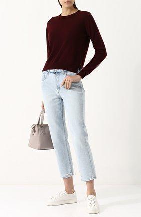 Однотонный пуловер из смеси кашемира и хлопка Alexandra Golovanoff красный | Фото №1