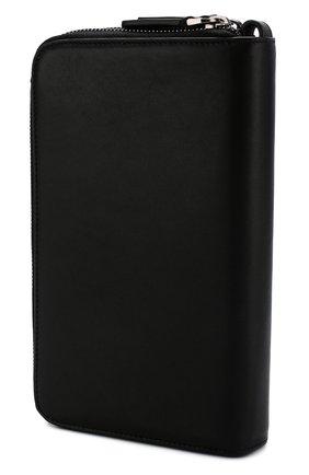 Мужская кожаный футляр для документов с двумя отделениями на молнии GIORGIO ARMANI черного цвета, арт. Y2R141/YDH6J | Фото 2