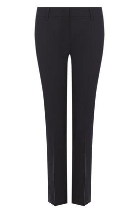 Однотонные укороченные брюки со стрелками | Фото №1