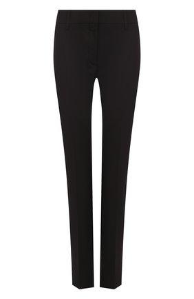 Укороченные однотонные брюки прямого кроя | Фото №1