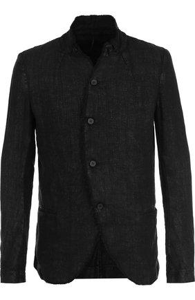 Однобортный льняной пиджак   Фото №1
