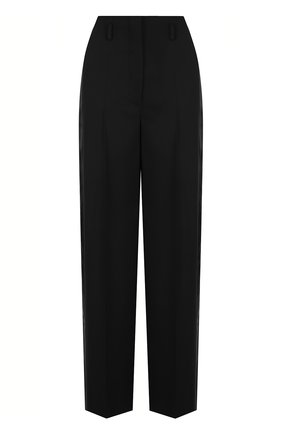 Однотонные шерстяные брюки со стрелками   Фото №1