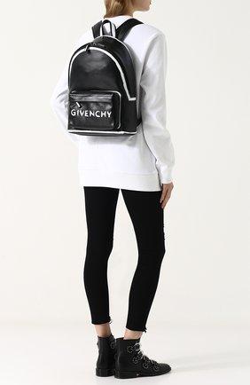 Кожаный рюкзак с логотипом бренда | Фото №2