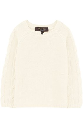 Кашемировый пуловер с фактурным узором | Фото №1