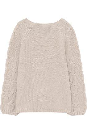 Кашемировый пуловер с фактурным узором | Фото №2