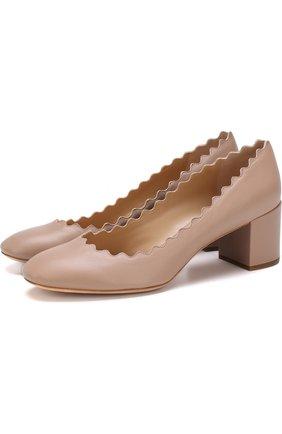 Кожаные туфли Lauren с фигурным вырезом | Фото №1