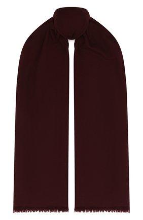 Мужской шерстяной шарф с необработанным краем LORO PIANA бордового цвета, арт. FAF1236 | Фото 1