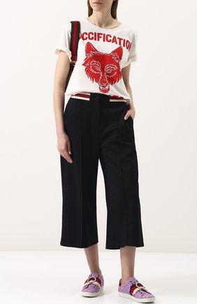 Текстильные кеды Ace с кружевной отделкой | Фото №2