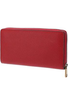 Кожаное портмоне на молнии с отделениями для кредитных карт и монет | Фото №2